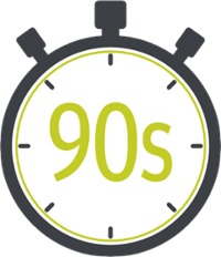 A Small Stopwatch Featuring 90 Seconds
