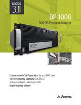 Cover of DP-1000 DOCSIS protocol analyzer Brochure
