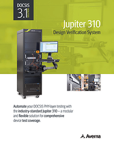 Cover of Jupiter 310 DOCSIS PHY layer verification tester Brochure