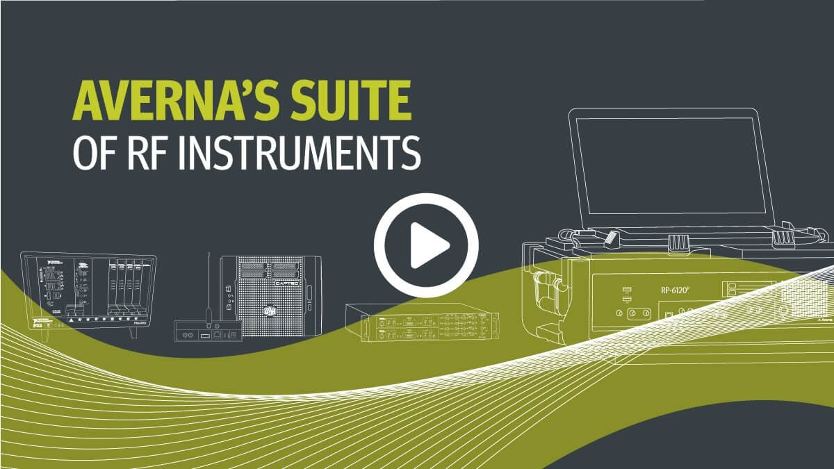 Cover of the video for Averna's Suite of RF Instruments