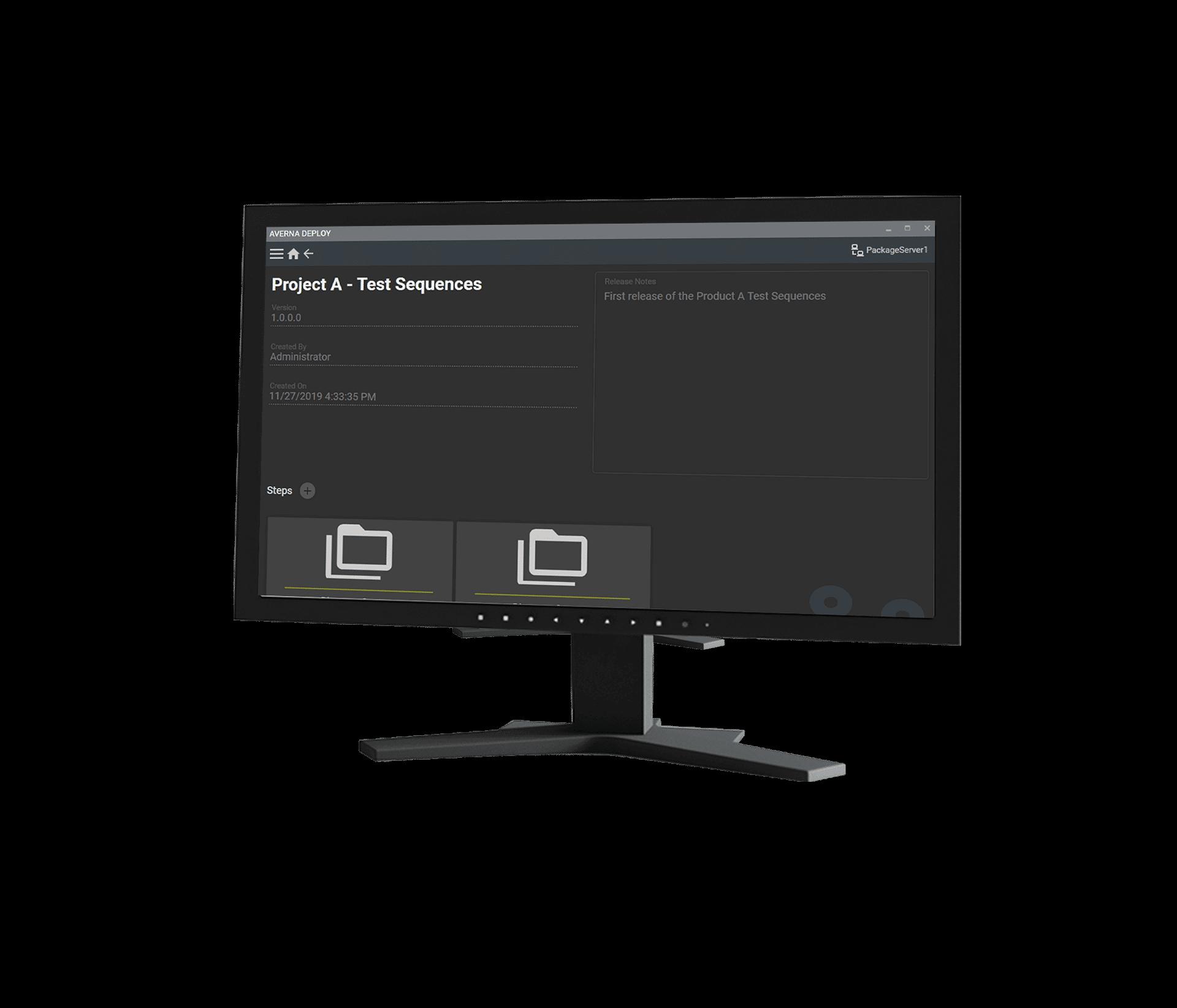 Averna Deploy Screen Version