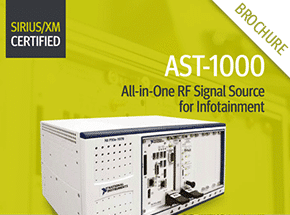 Cover - AST-1000 All-in-One RF Signal Source for Infotainment Brochure
