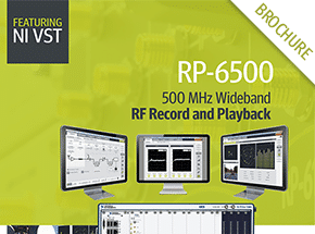 Cover - RP-6500 Wideband RF Record & Playback for GNSS Brochure