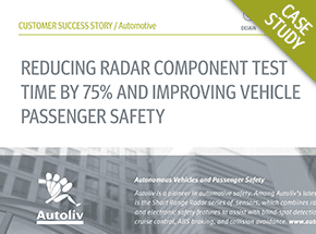 Cover - Automotive Radar Solution Reduces Test Time by 75% Case Study