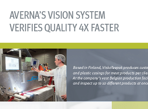 Cover of case study for machine vision project for the food and beverage industry.
