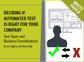 Cover - Deciding if Automated Test is Right for Your Company White Paper