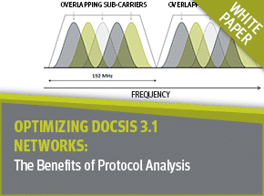 Cover - Optimizing DOCSIS 3.1 Networks with Protocol Analysis White Paper