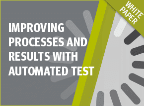 Cover - Improving Processes and Results with Automated Test White Paper