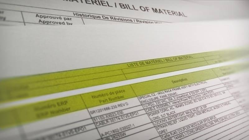 Organized documentation for proper procurement of materials.