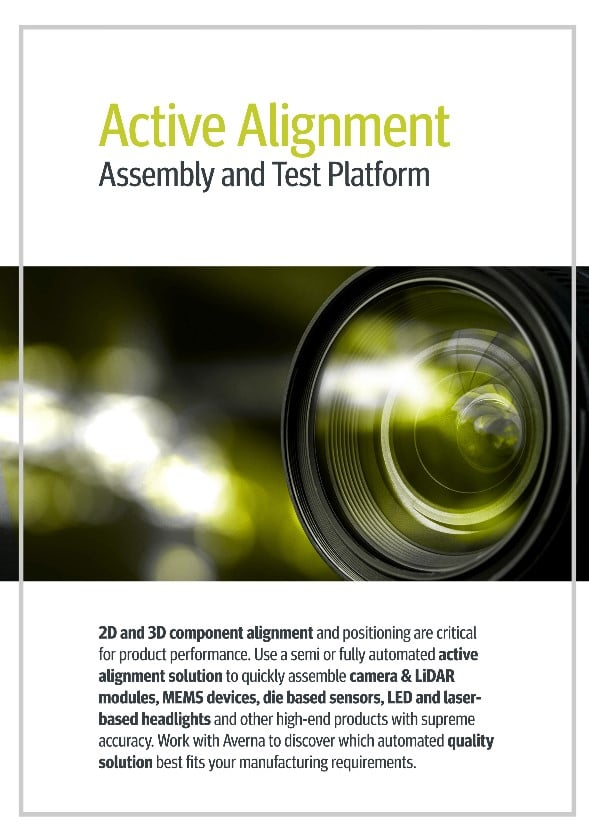 Cover of the Active Alignment Assembly and Test Platform Brochure