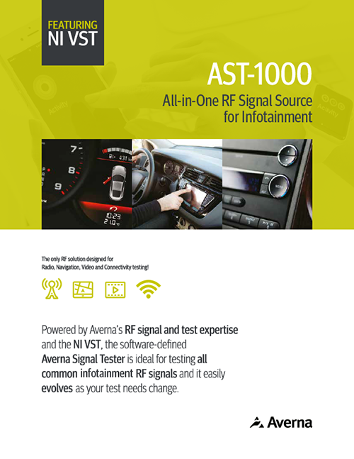 AST-1000 All-in-One Infotainment RF Signal Source