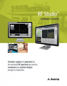 Cover of RF Studio Software Brochure