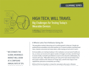 High Tech, Will Travel: Big Challenges for Testing Today's Wearable Devices