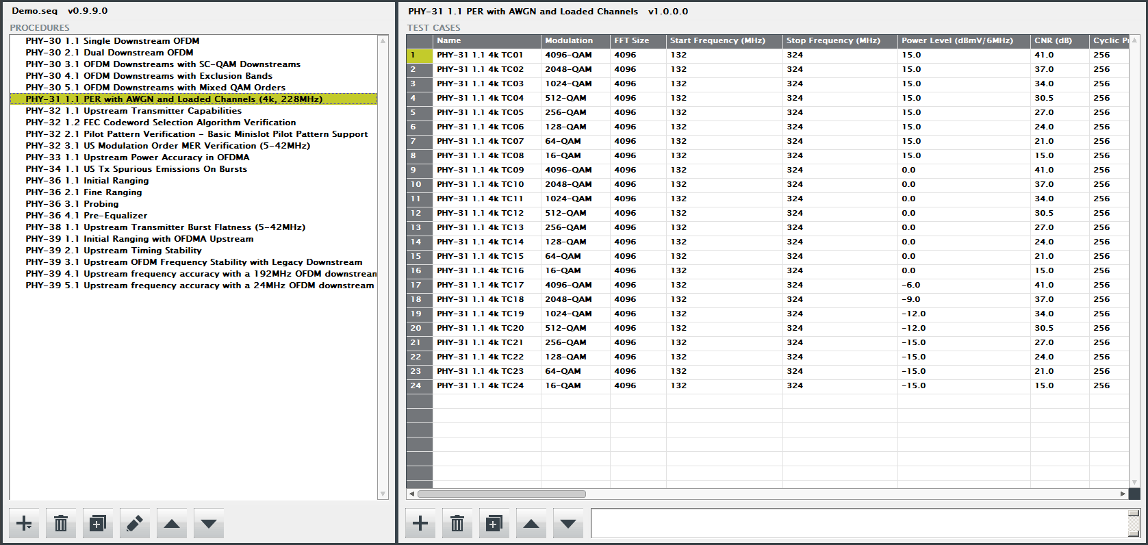 Test Plan Editor
