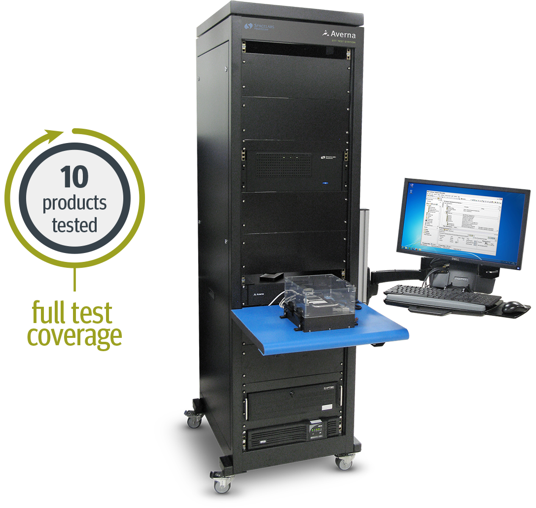 Final standalone test station for Spacelabs