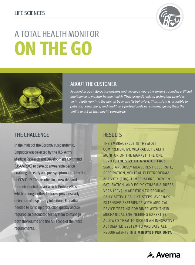 Cover for Total Health Monitor on the go Case Study